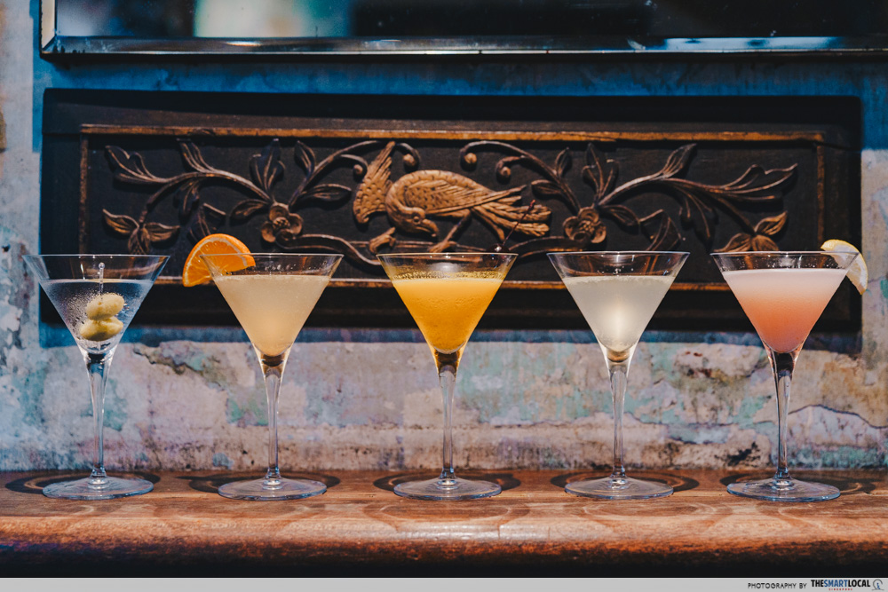 5 martinis at No.5 Emerald Hill