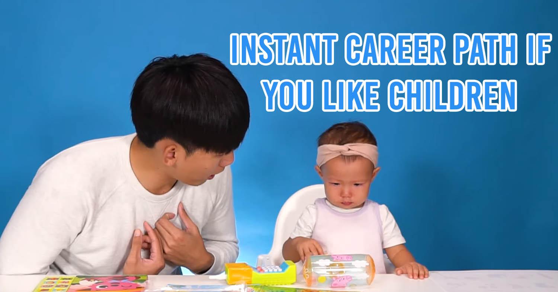 Man talking to child