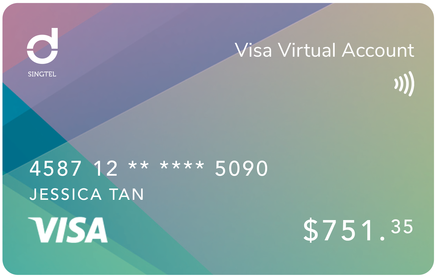 Singtel Dash Visa Virtual Account