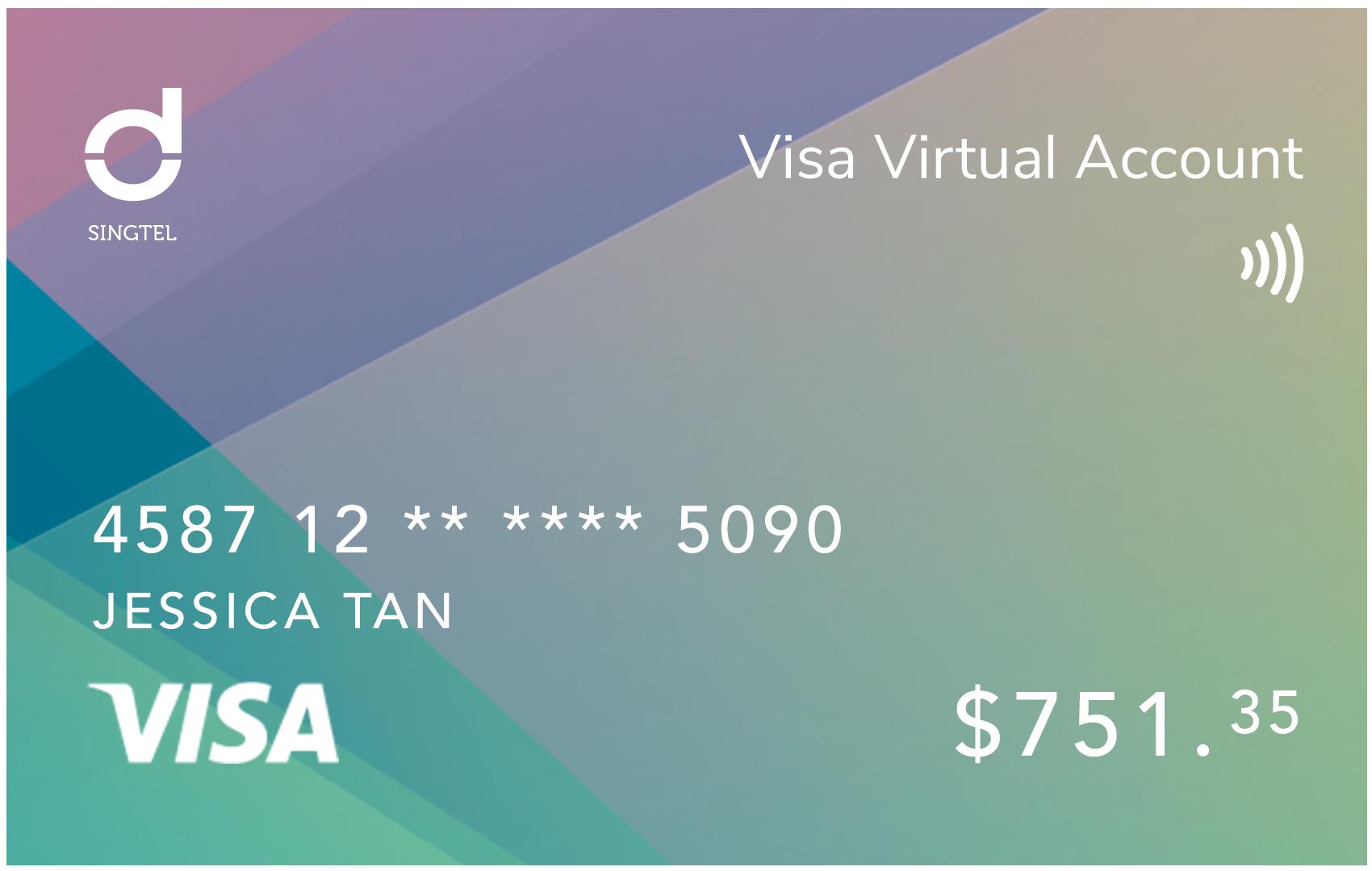 Singtel Dash Visa Virtual Account