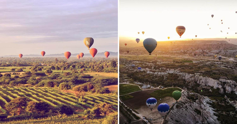 Bagan and Cappadocia