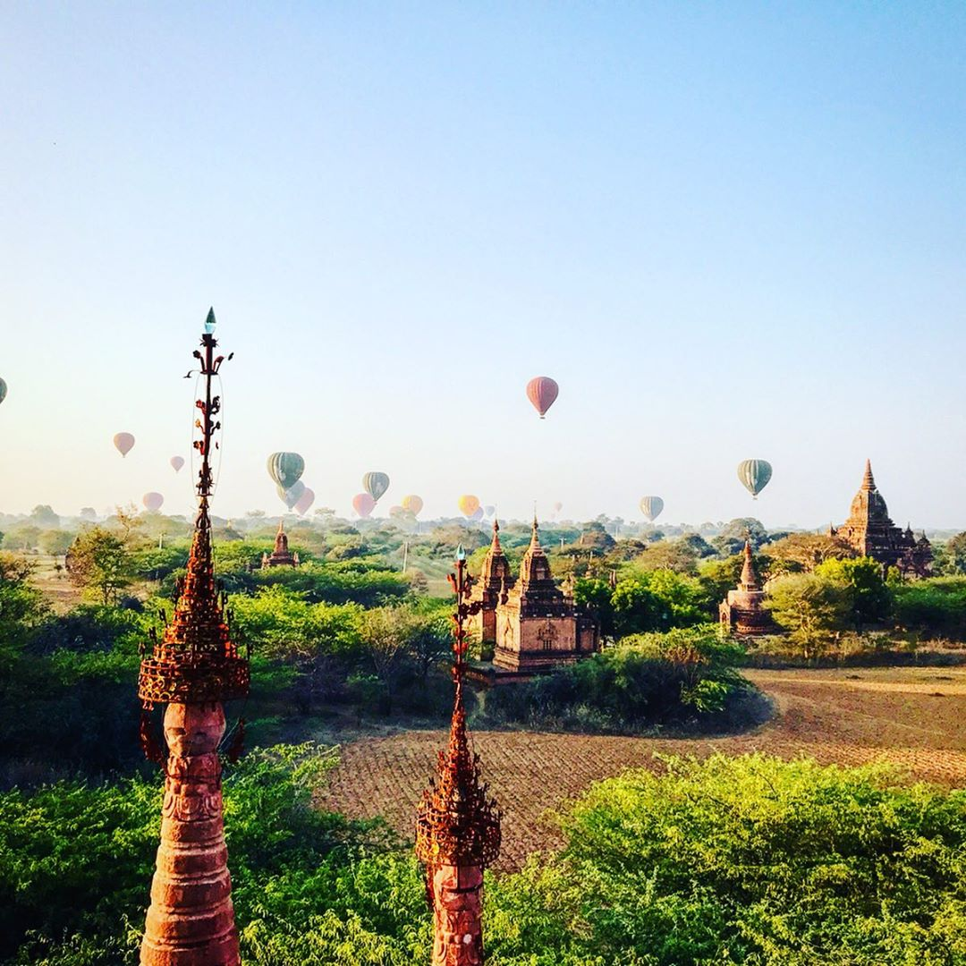 Hot air balloon viewing point in Bagan