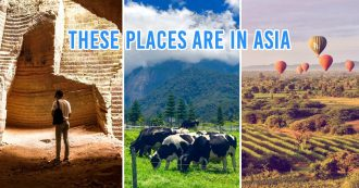 Photo collage of travel destinations in Asia