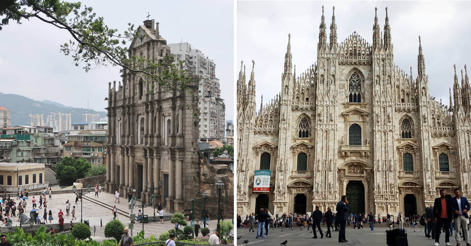 Ruins of St. Paul's and Duomo di Milano
