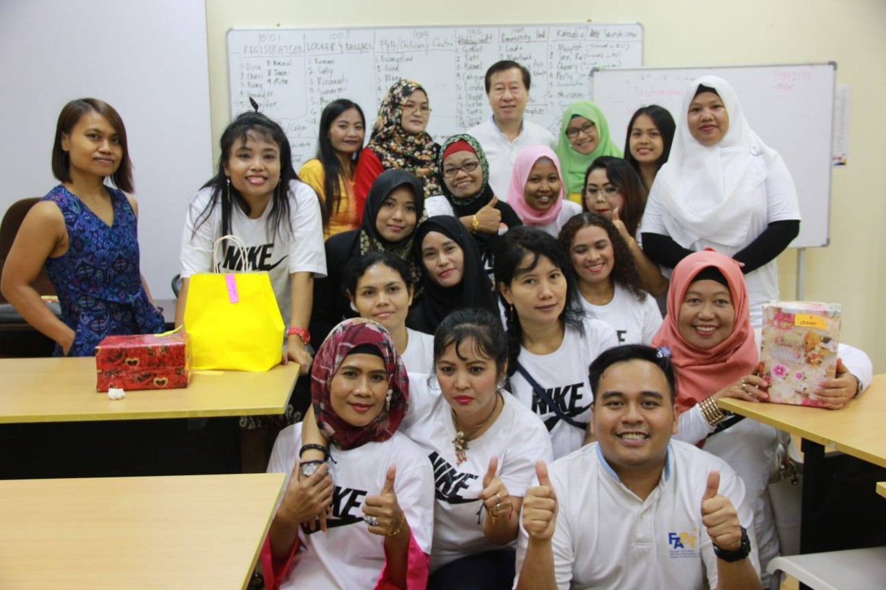 Foreign Domestic Worker Association for Social Support and Training allows workers to learn English, computer and culinary classes