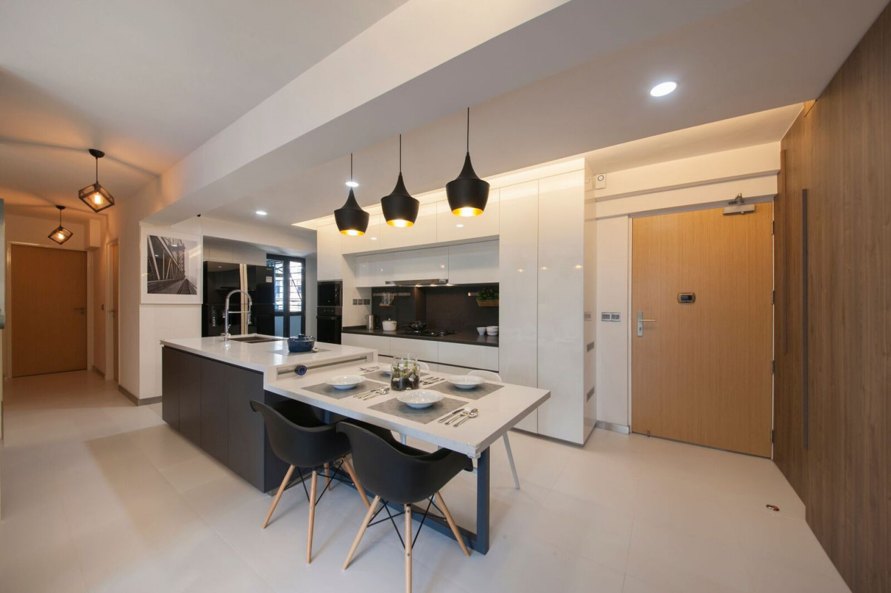 HDB features - kitchen island