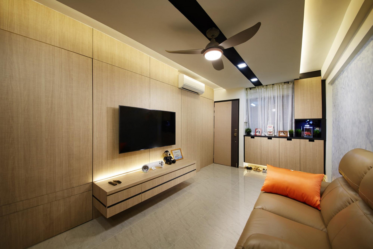 HDB features - feature wall