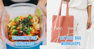Takeaway container and tote bag