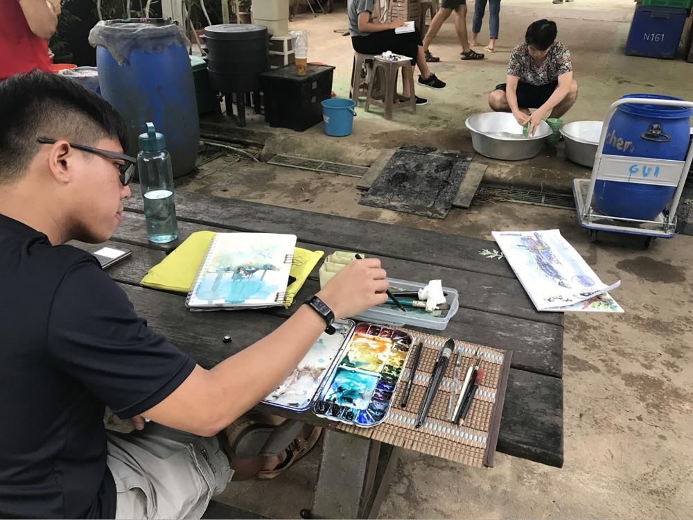 Kampung sketching session