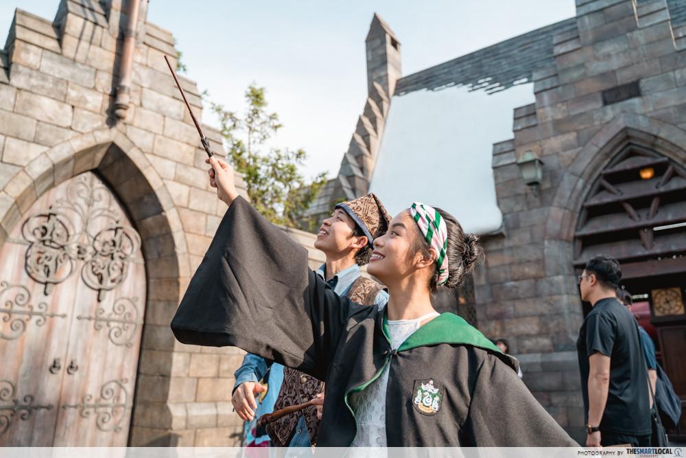 universal studios japan 2019 harry potter wand magic