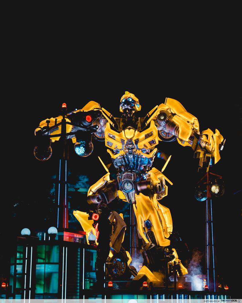 universal studios japan 2019 transformers night parade