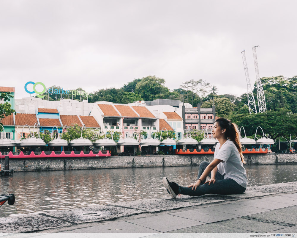 Running routes in the CBD - clarke quay singapore river