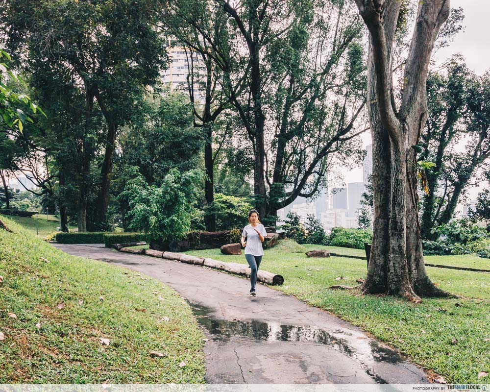 Running routes in the CBD - pearls hill city park
