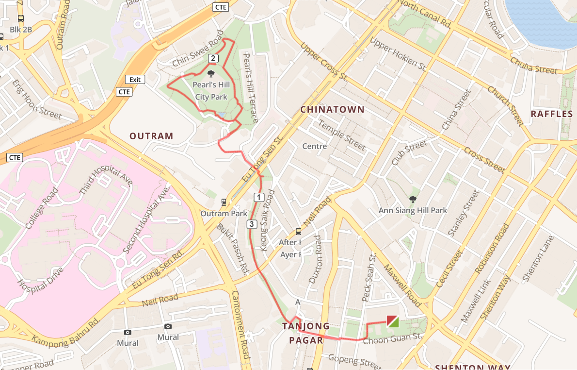 Running routes in the CBD - peral hill city duxton plain park route