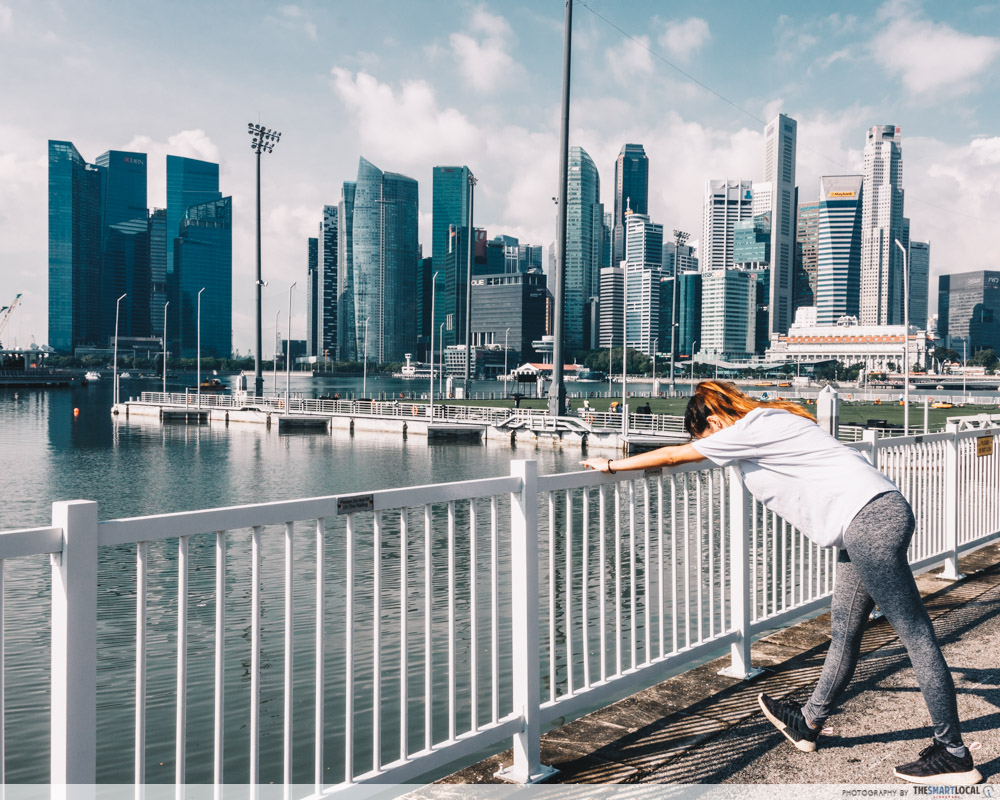 Running routes in the CBD - promontory marina bay
