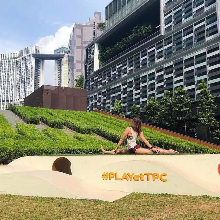 Running routes in the CBD - tanjong pagar centre verticle garden