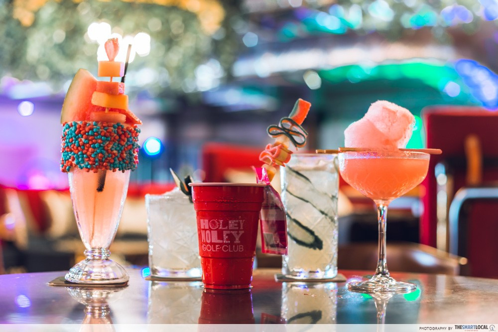 Cocktails at Holey Moley