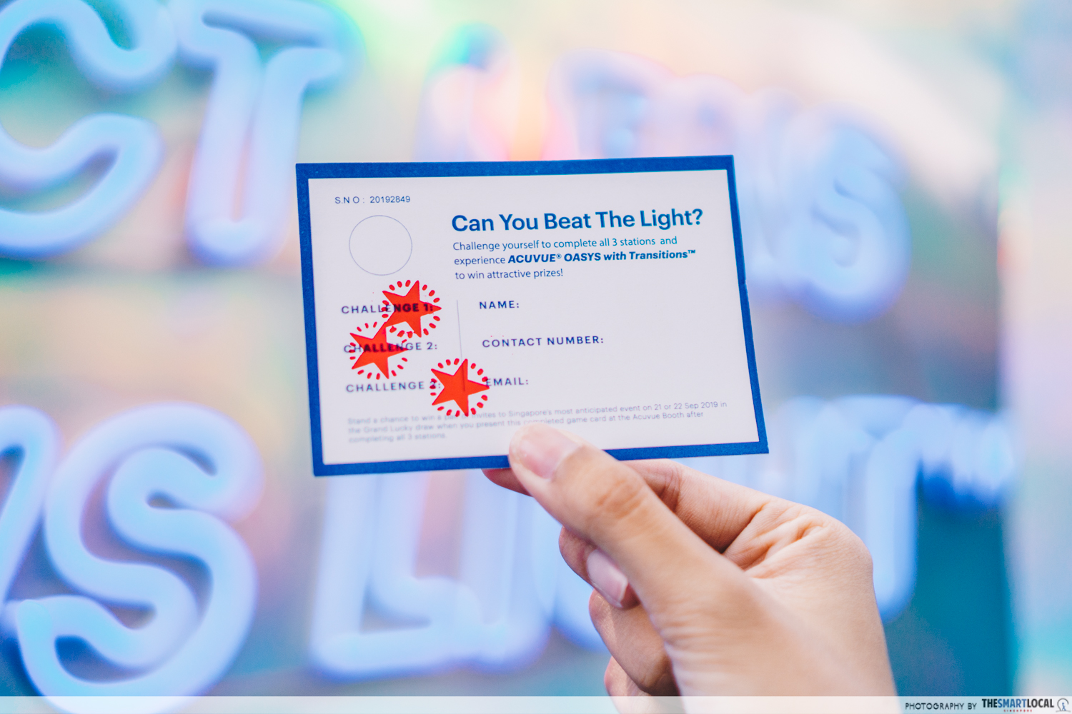 ACUVUE's Pop-up card