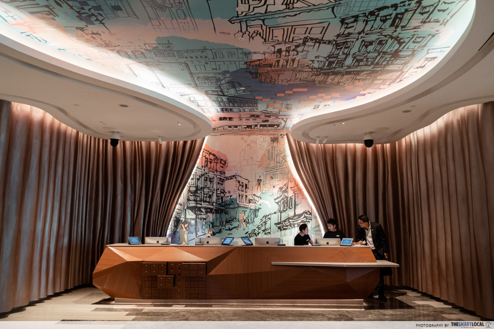 Capri by Fraser, China Square hotel lobby