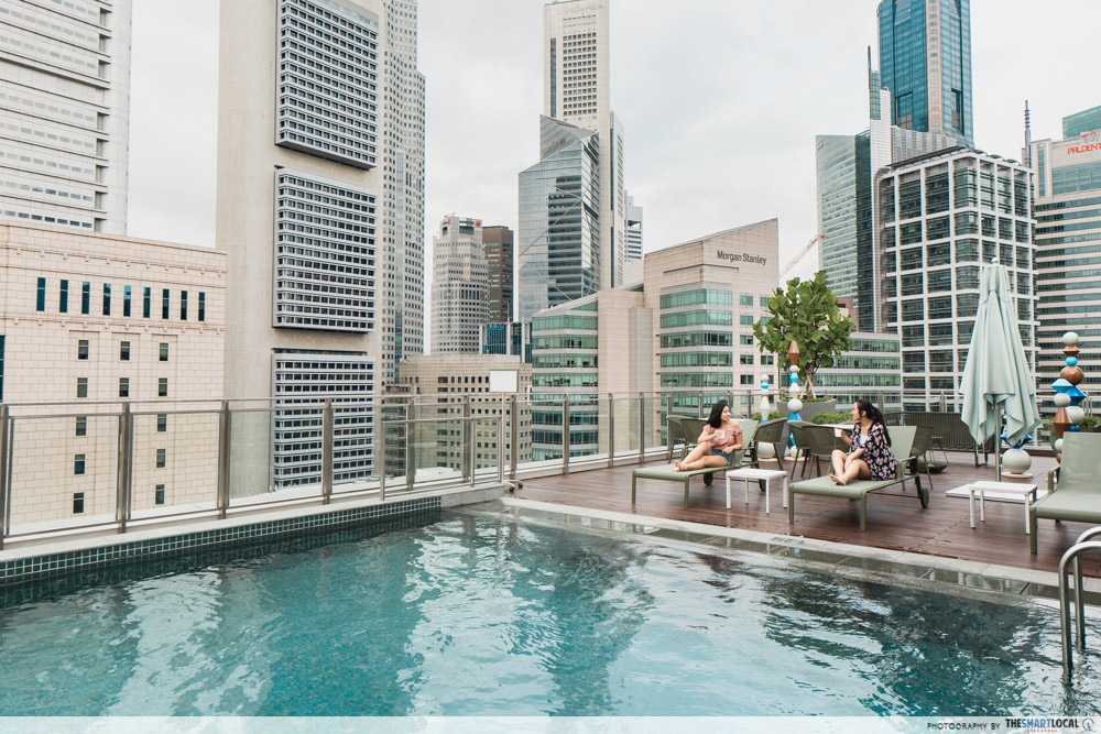 Rooftop pool at Capri by Fraser, China Square