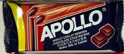 Apollo chocolate wafers