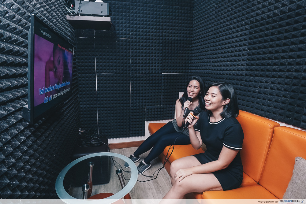 Karaoke North Singapore KTV Playlist Sembawang CC Soundproofed Room