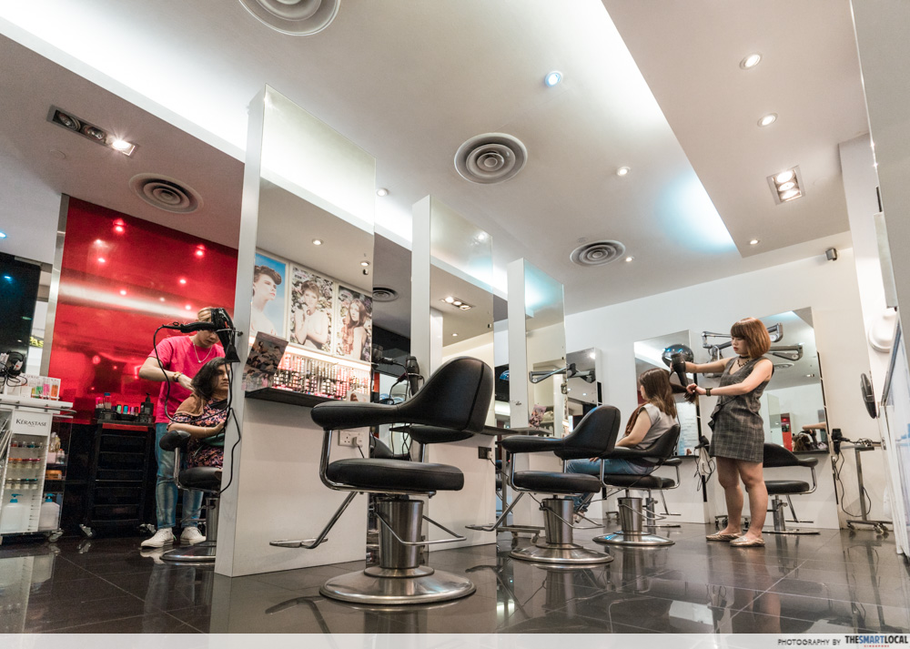 Korean Perms Singapore Salon CapitaLand Shopping Malls REDS Hairdressing