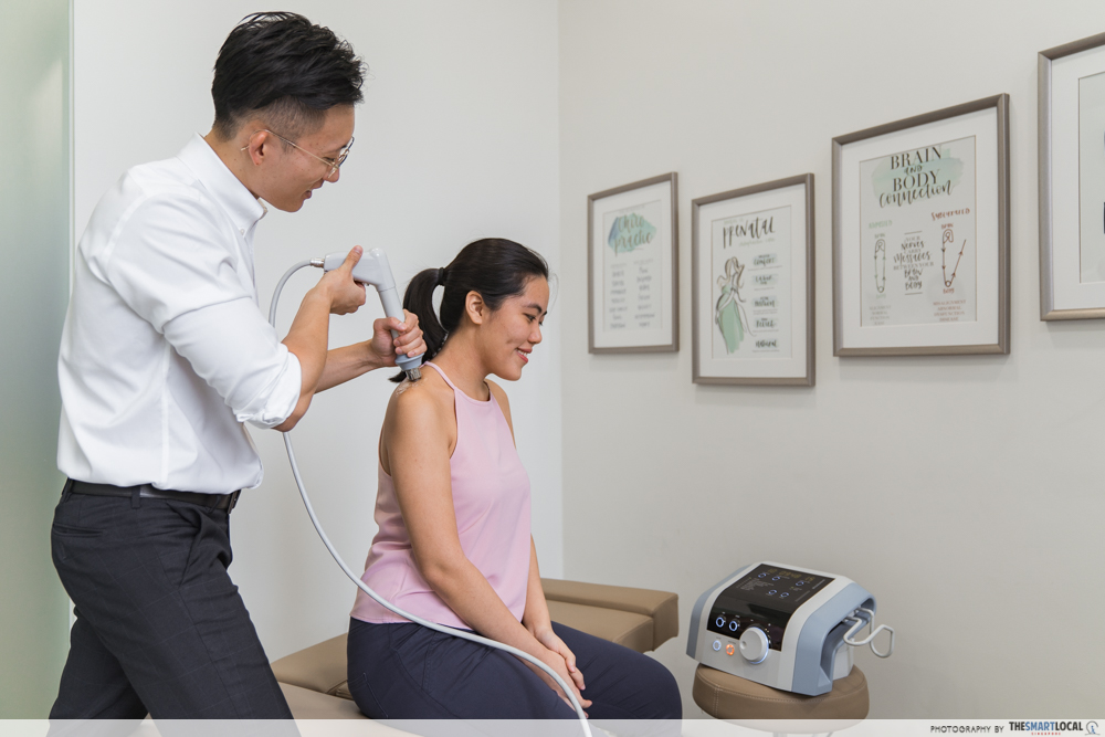 Macquarie Chiropractic Clinic Singapore Spinal Adjustment BTL Shockwave Therapy Treatment