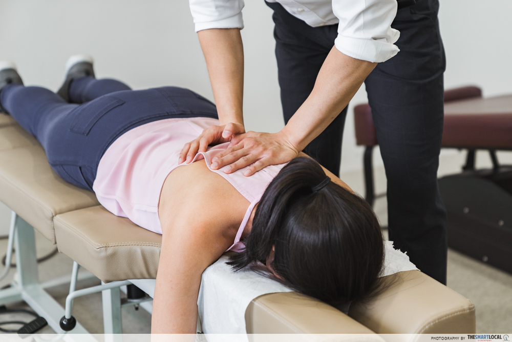 Macquarie Chiropractic Clinic Singapore Spinal Adjustment Spine Examination
