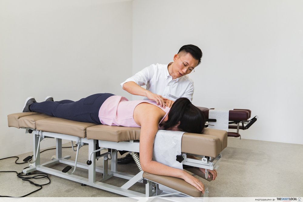 Macquarie Chiropractic Clinic Singapore Spinal Adjustment Examination