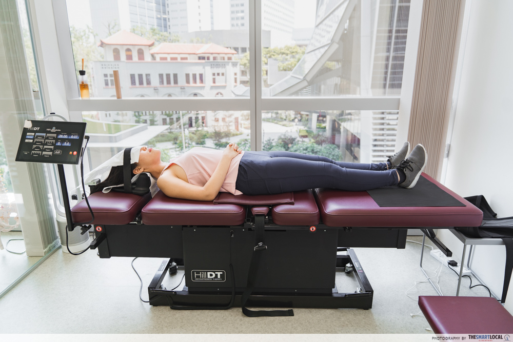 Macquarie Chiropractic Clinic Singapore Spinal Adjustment Hill Decompression Table