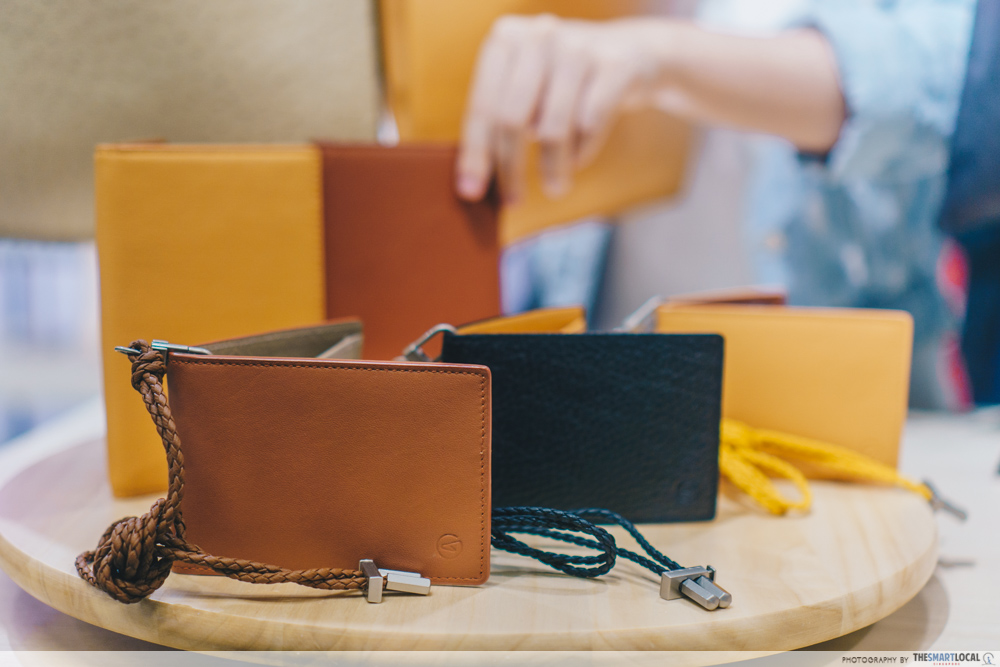 Sift & Pick Pop-Up 2019 Changi Airport Designer Bags AZERO LEATHER Upcycled Materials Wallet