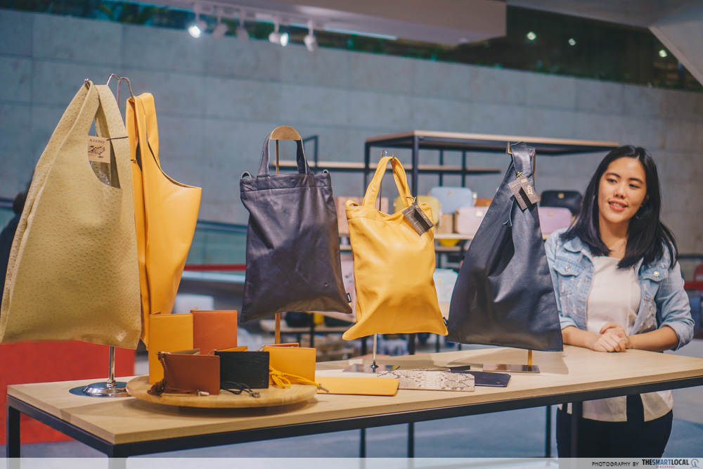 Sift & Pick Pop-Up 2019 Changi Airport Designer Bags AZERO LEATHER Upcycled Materials