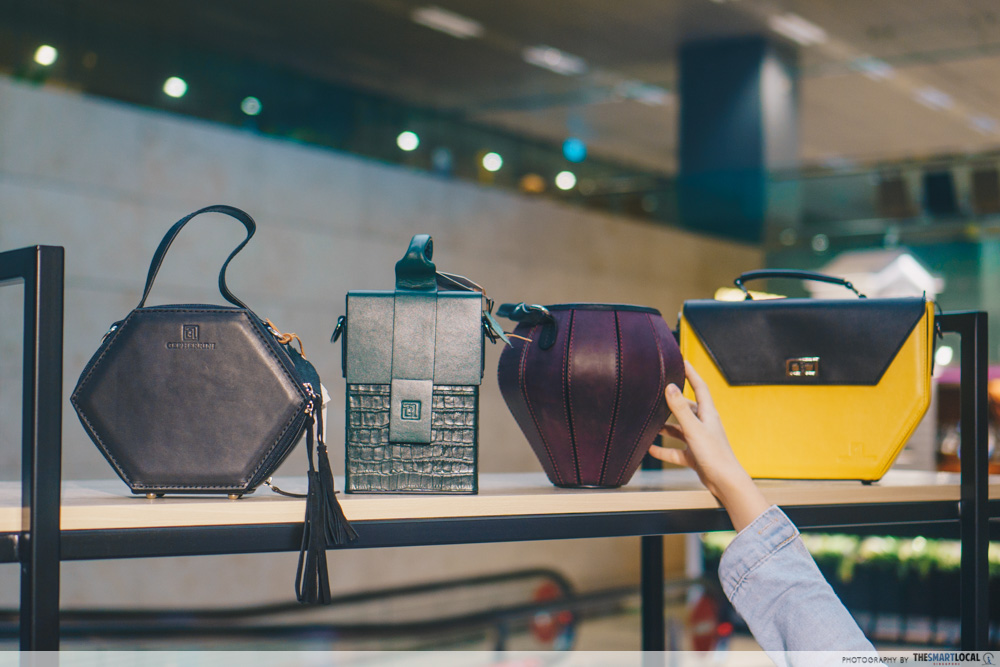 Sift & Pick Pop-Up 2019 Changi Airport Designer Bags Gepherrini Shapes Silhouttes