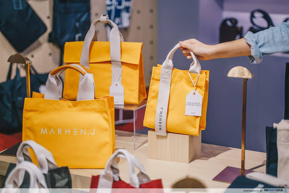 Sift & Pick Pop-Up 2019 Changi Airport Designer Bags Marhen.J Summer Exclusive Limited Edition Mango Mustard Collection