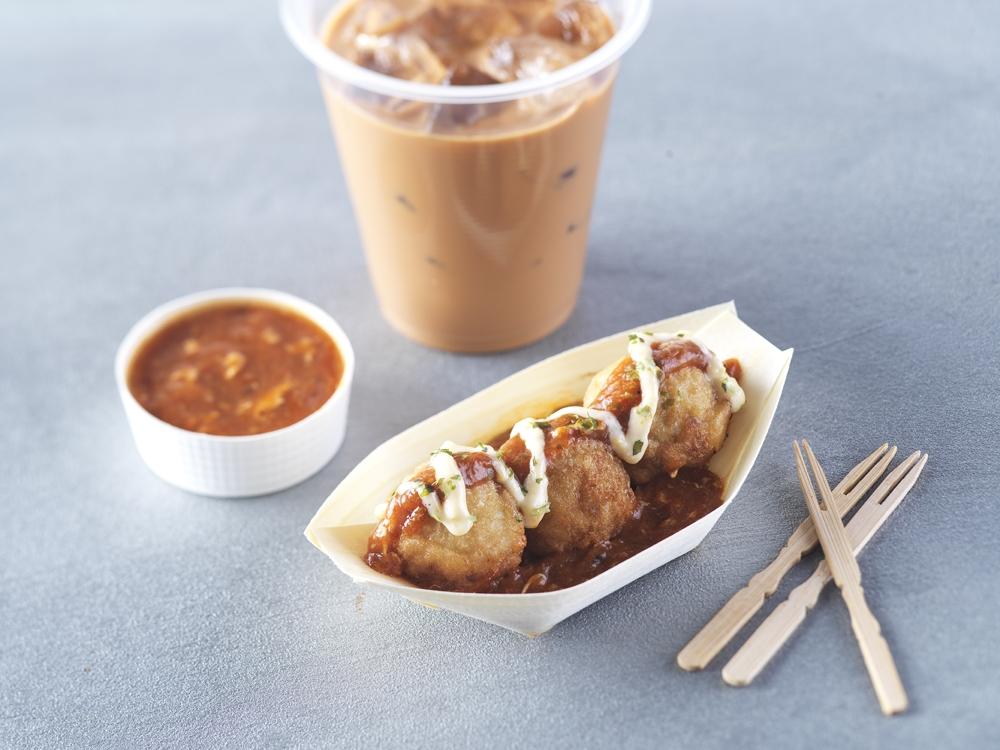 Chilli crab takoyaki