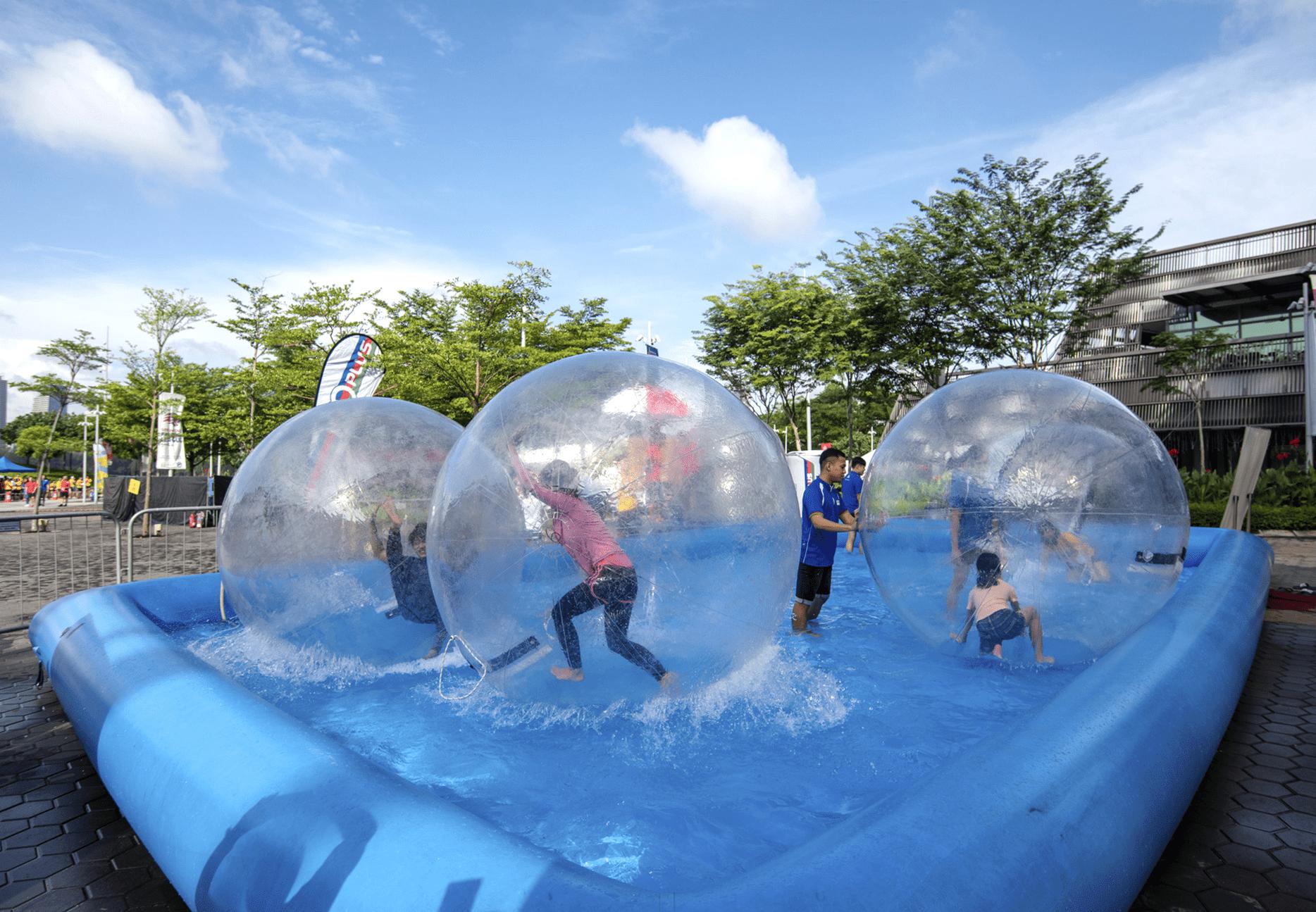 Singapore Sports Hub Summer Sports Jam Bubble Run Water Playzone