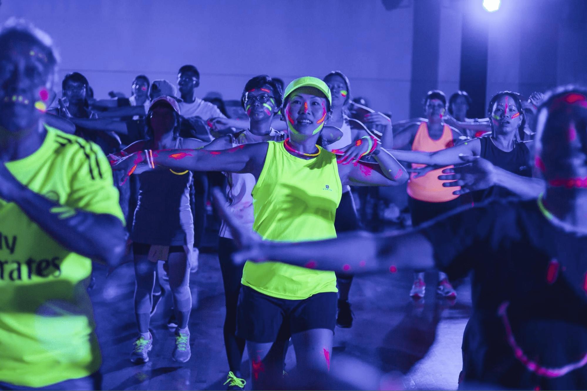 Singapore Sports Hub Summer Sports Jam Glow Dance Jam