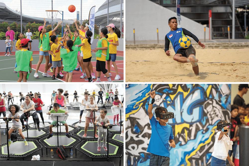 Singapore Sports Hub Summer Sports Jam Activities