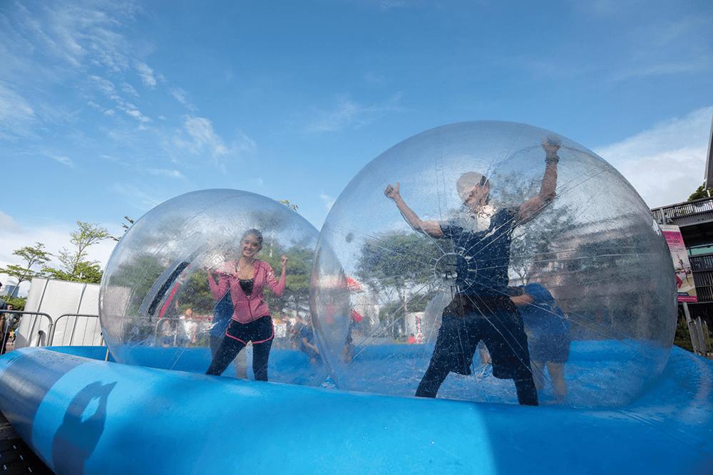 Singapore Sports Hub Summer Sports Jam Bubble Run Water Inflatables