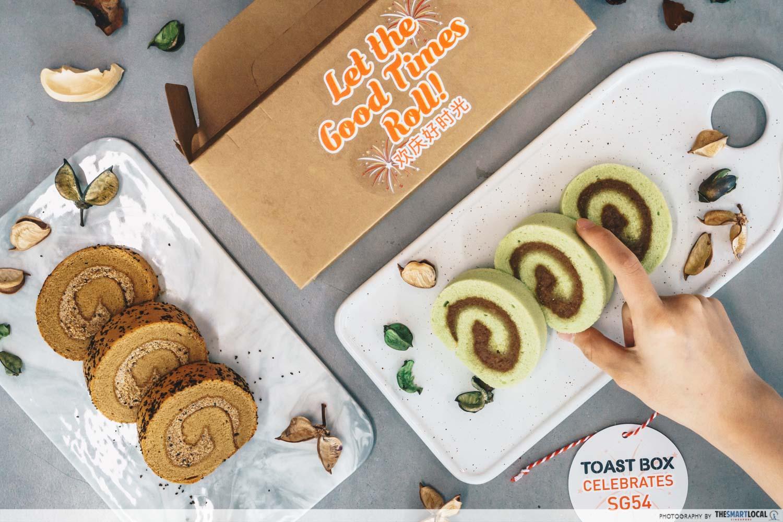 Toast Box cake rolls
