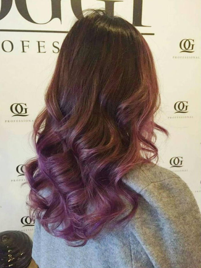 oggi professional hair studio purple hair