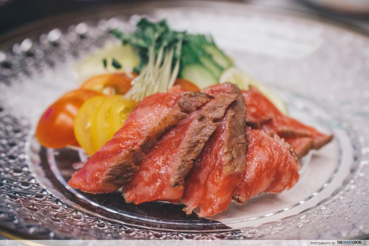 Nishimuraya Hotel Shogetsutei Kinosaki tajima beef kaiseki beef sashimi