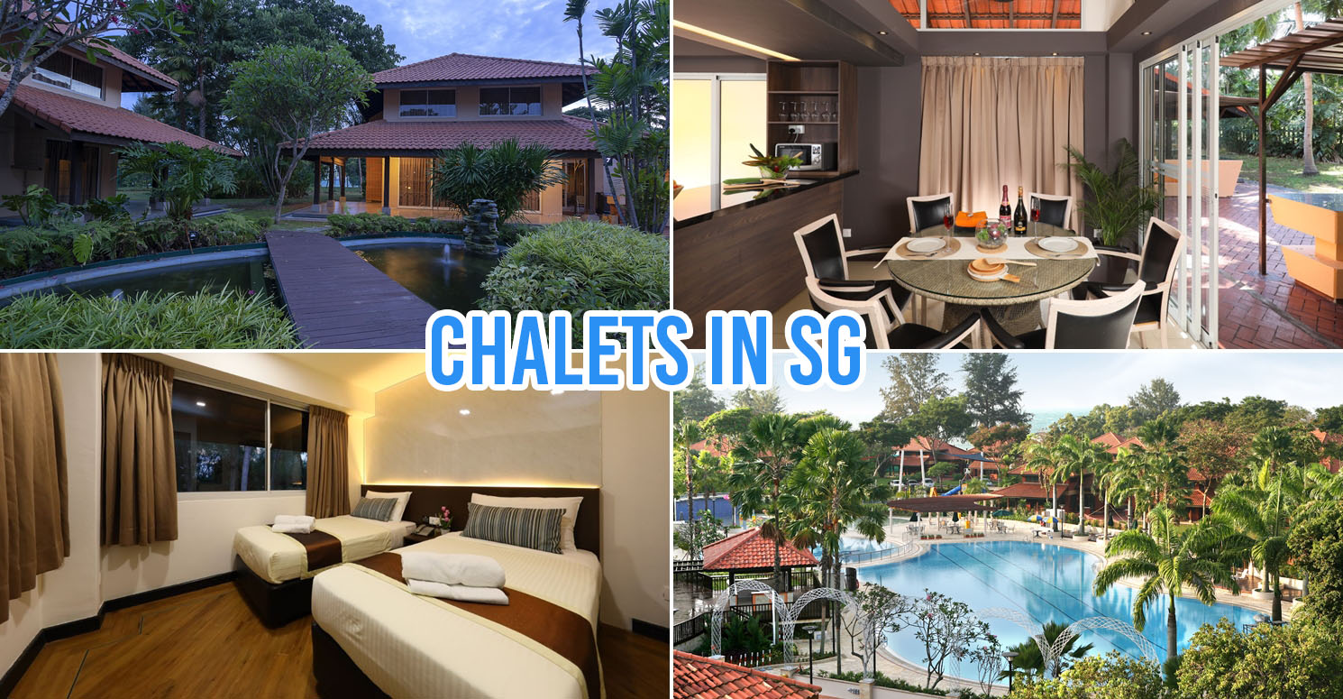 chalets in singapore - collage of chalets