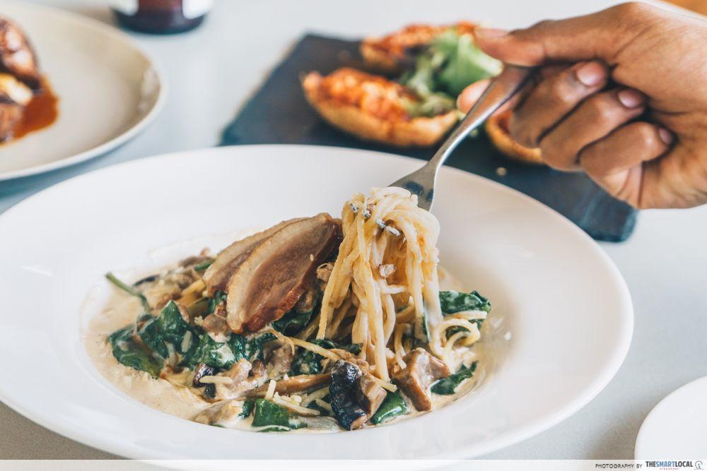 smoked duck mushroom ragout arbora sentosa restaurant menu