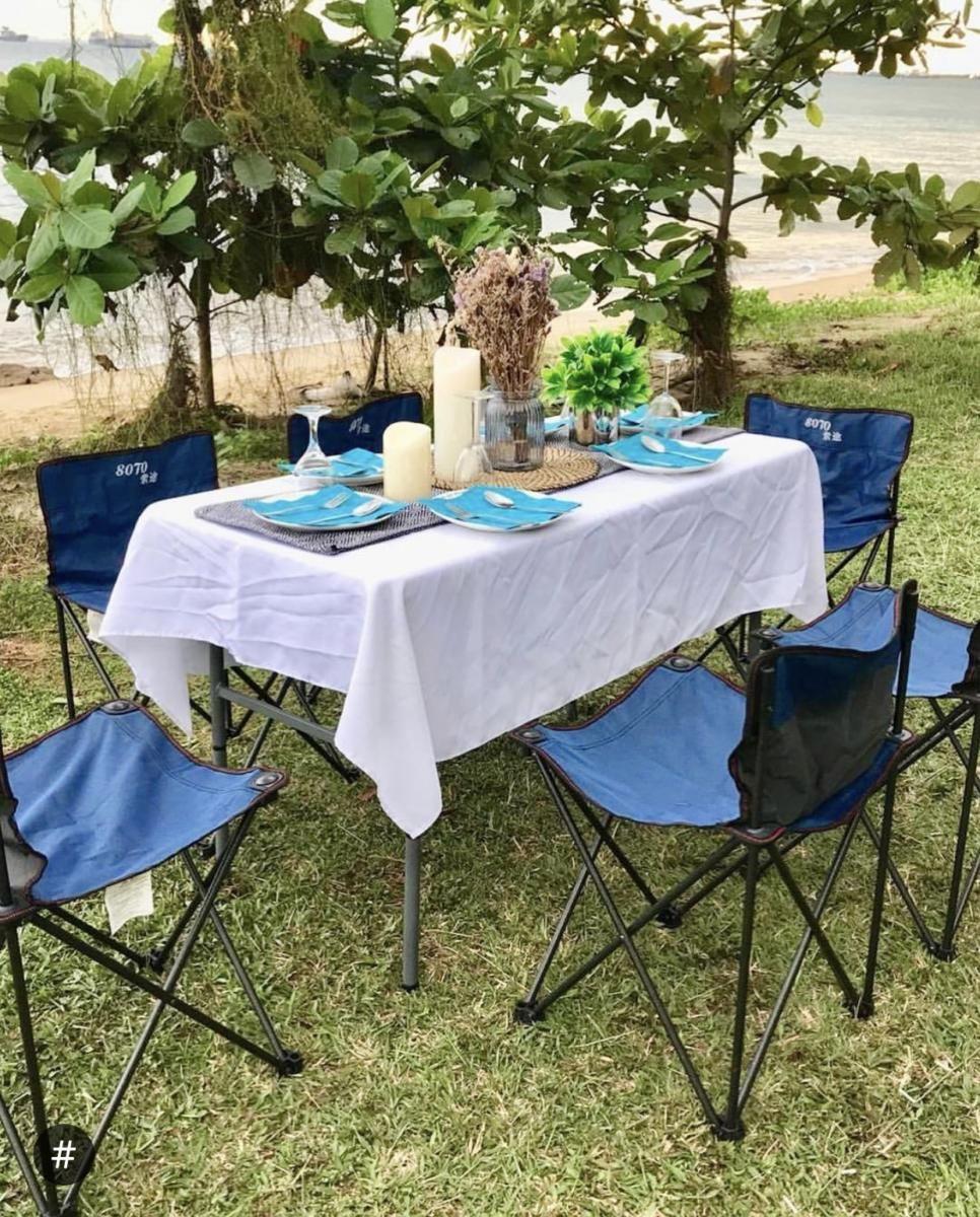 glampingkaki tent outdoor picnic