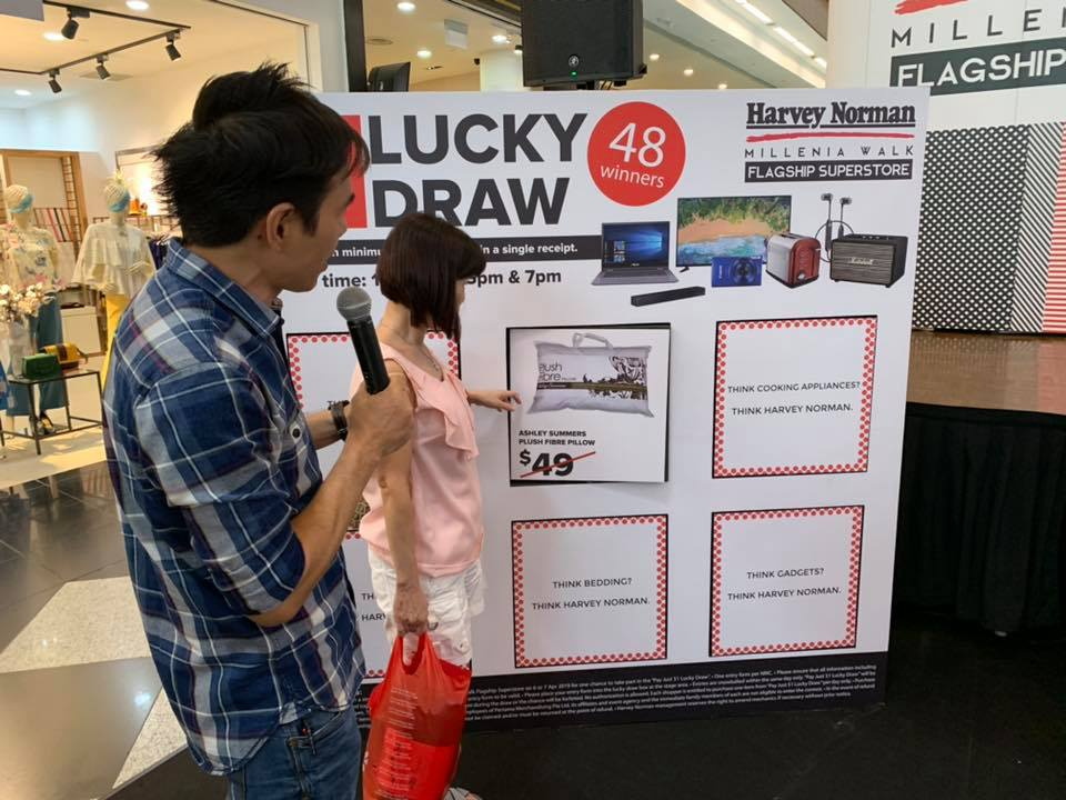 harvey norman lucky draw