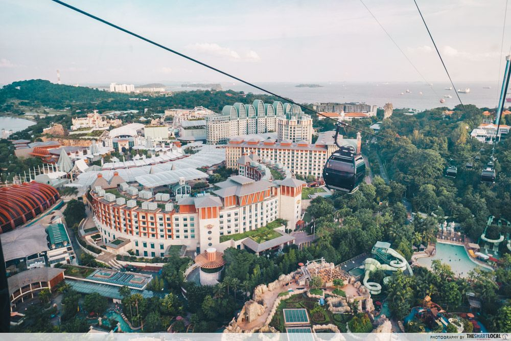 resorts world sentosa singapore cable car