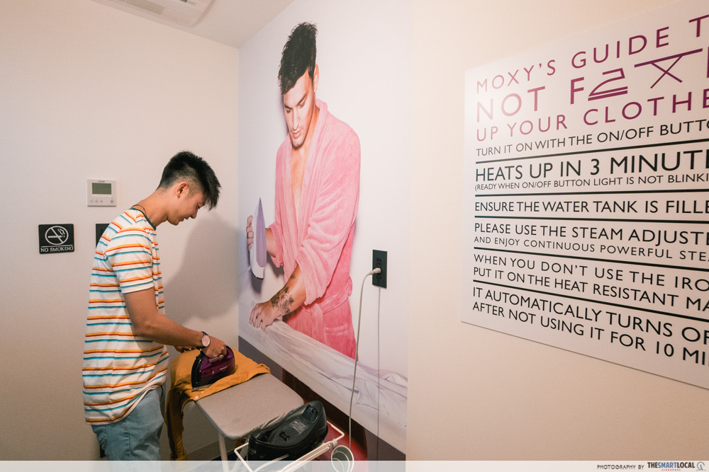 moxy hotel ironing room