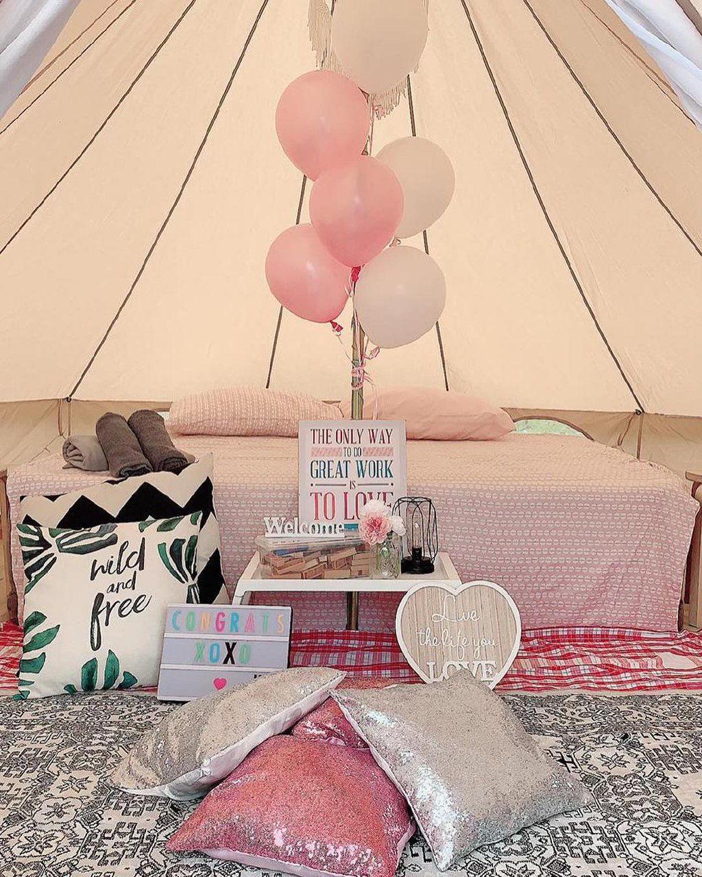 wondrous glampnig tent